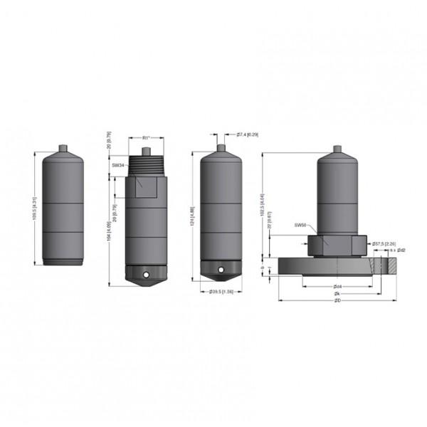 PCE-SLS 20 датчик уровня жидкостей (до 200 mH20/ 20,0 bar)