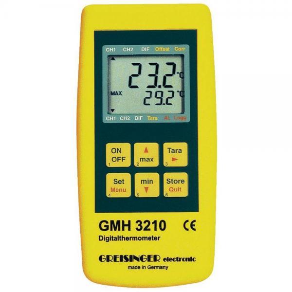 Greisinger GMH 3210 профессиональный термометр с выходом для внешнего блока питания