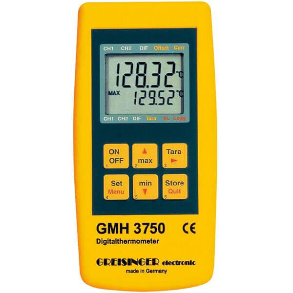 Greisinger GMH 3750 эталонный термометр c функцией регистратора и выходом для внешнего блока питания