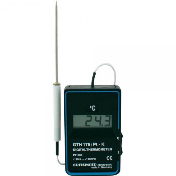 Greisinger GTH 175 PT-G термометр для воздуха, газов и мягких материалов c выносным датчиком с тефлоновым покрытием