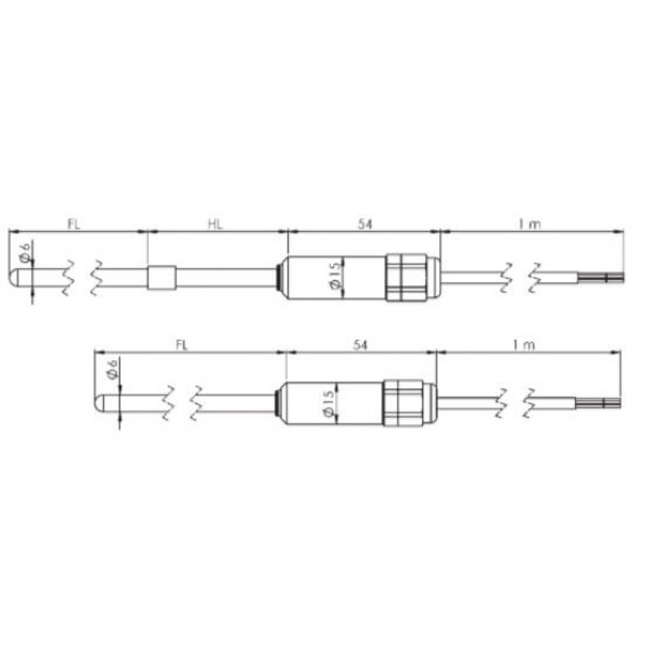 Greisinger GTF101-EX взрывозащищенный датчик температуры без резьбы