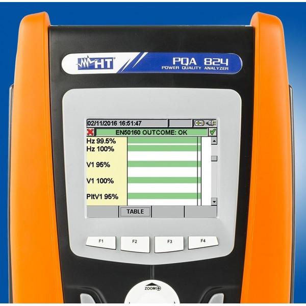 HT-PQA 824 анализатор качества электроэнергии с функцией записи и сенсорным дисплеем