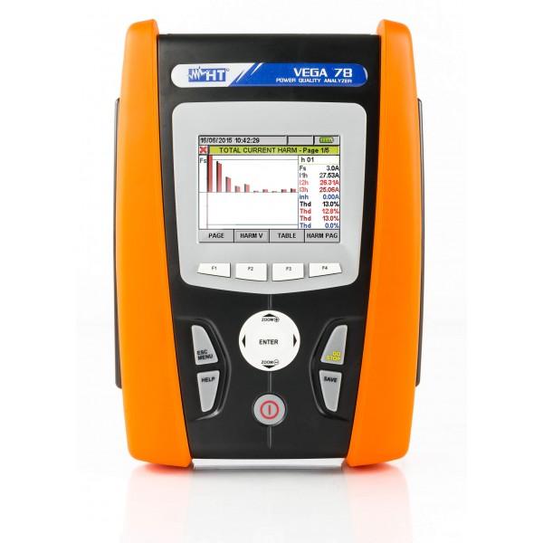 HT-VEGA 78 анализатор качества электроэнергии с функцией записи и сенсорным дисплеем