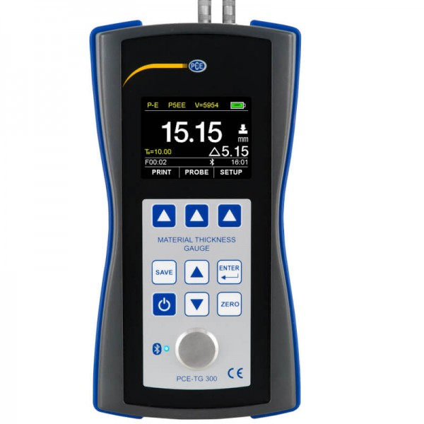 PCE-TG 300 толщиномер с двумя режимами измерения (импульс-эхо и эхо-эхо)