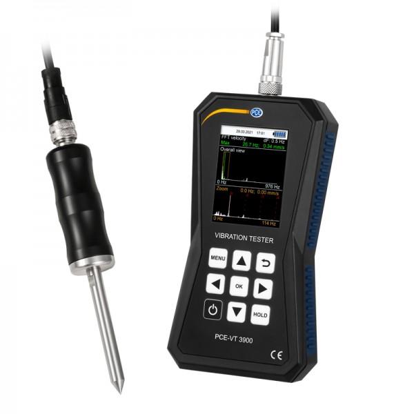 PCE-VT 3900S профессиональный виброметр и тахометр с памятью