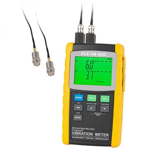 PCE-VM 5000 4-х канальный виброметр с функцией регистрации