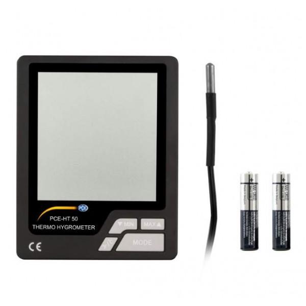 PCE-HT 50 термогигрометр с внутренним и выносным датчиком температуры