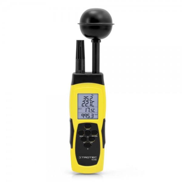 Trotec TC100 термогигрометр с отображением WBGT индекса